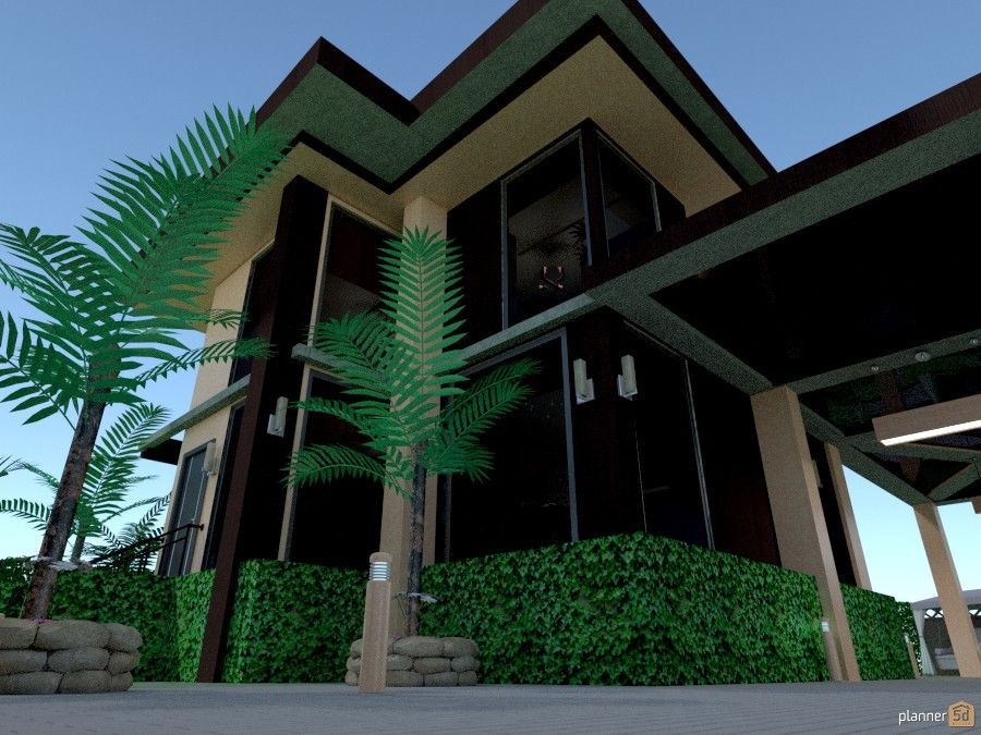 Planner 5D -for inner city living, one bedroom townhouse.