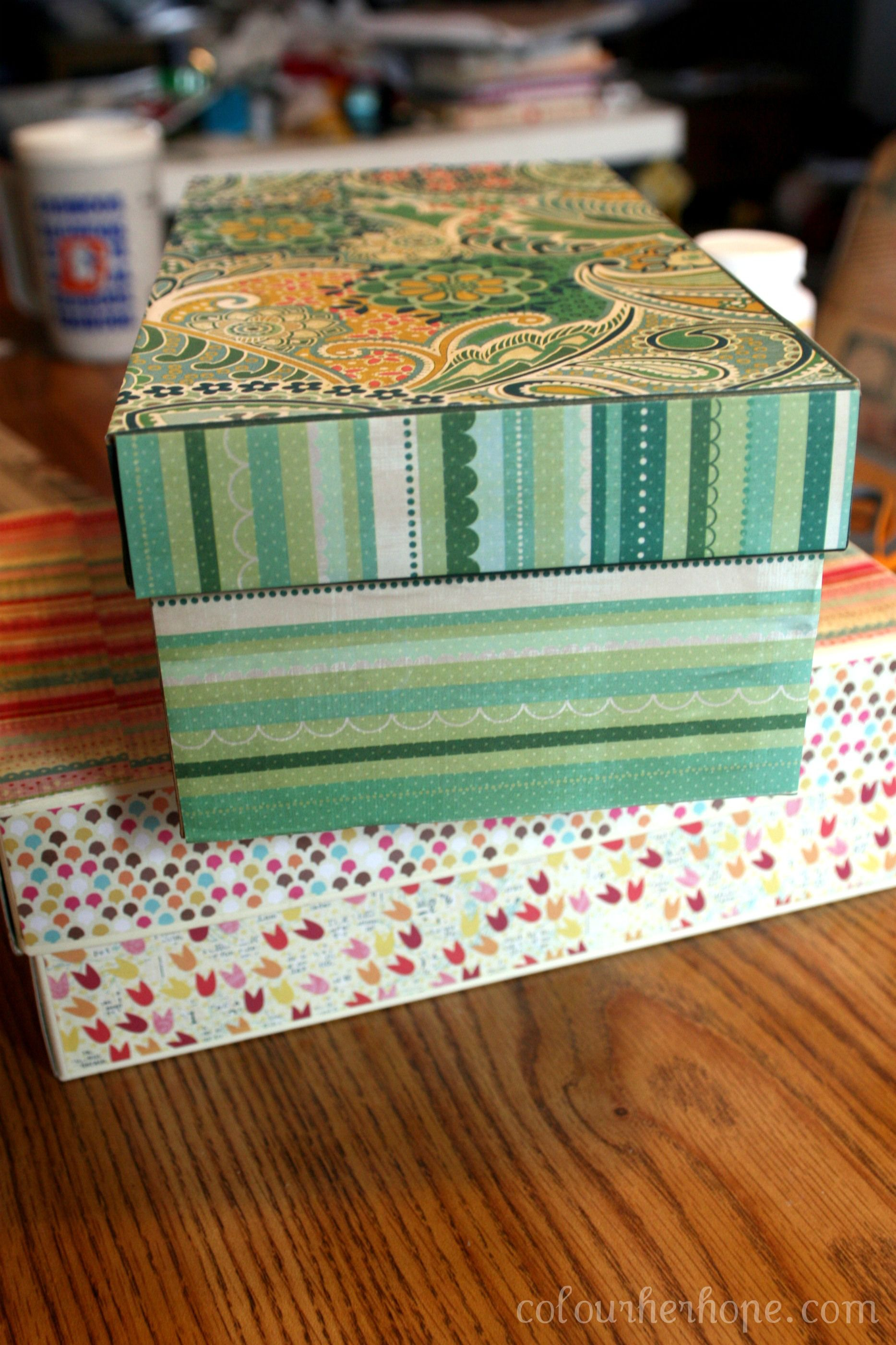 Pretty Storage Boxes (an easypeesy DIY) Pretty storage