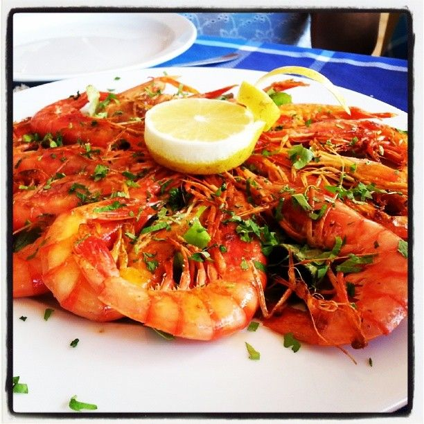 Prawns made ​​by Can Rafalet in Es Calo #canrafalet