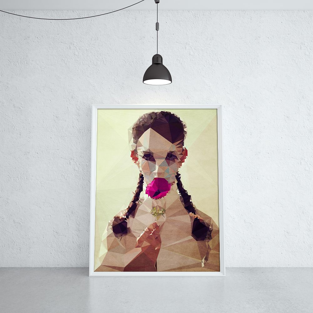 I JUST ATE MY LOLLIPOP (KUBISTIKA Modern cubism Art | by BORIS DRASCHOFF)
