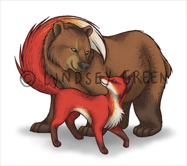 bear and fox - Buscar con Google