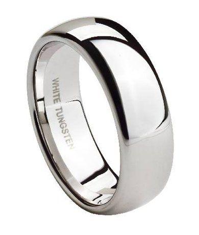 BESTSELLER! White Tungsten 8mm Comfort Fit Tradit... $59.95