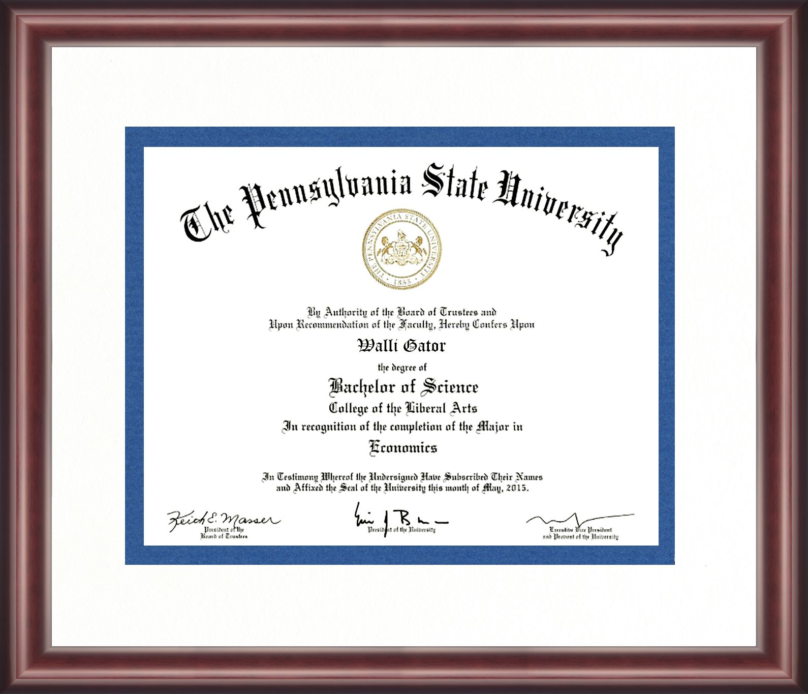 Penn State Diploma Frame Talking Walls Diploma Frame School Graduation Announcements State School