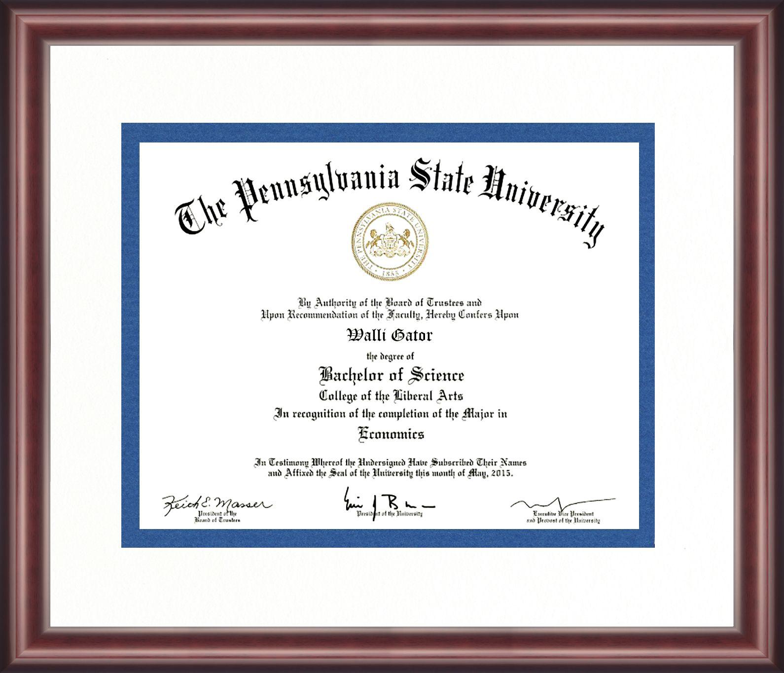 Diploma Frame, State School