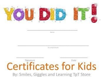 certificates for kids autism teacher special education teacher