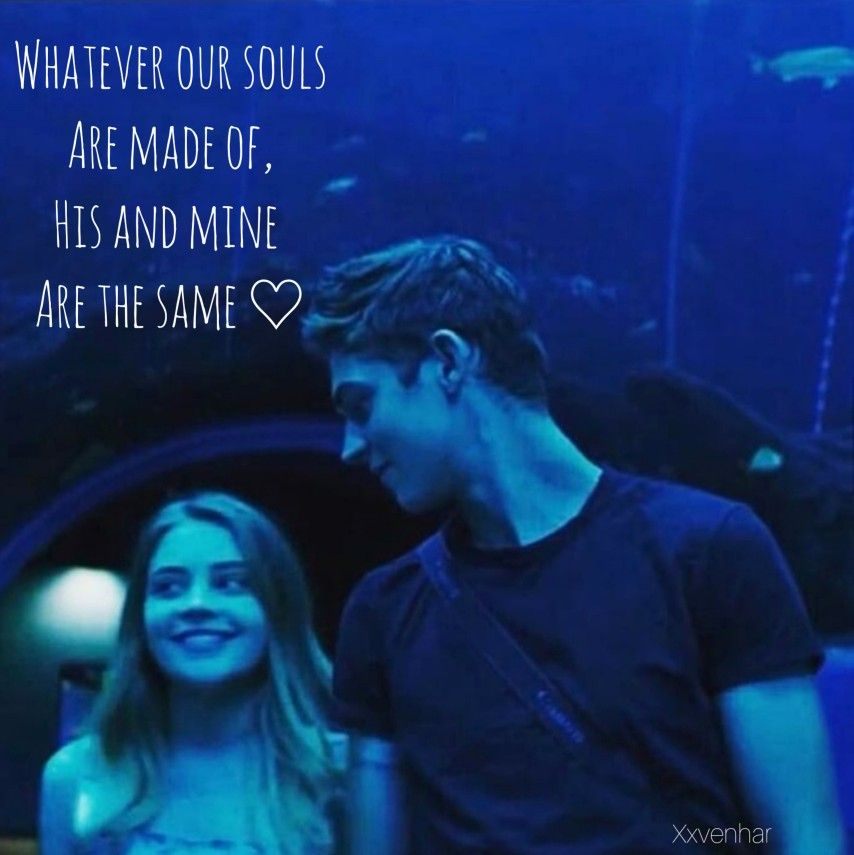 Aquarium scene after passion Hardin and Tessa whatever our souls are made of his and mine are the same