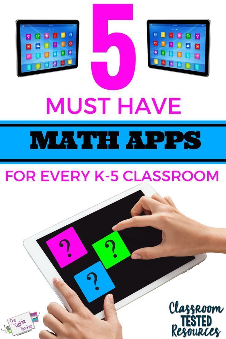 5 MUST Have Math Apps for Every K-5 Classroom   Maths, Elementary ...