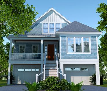 Cottage house plans waterfront narrow