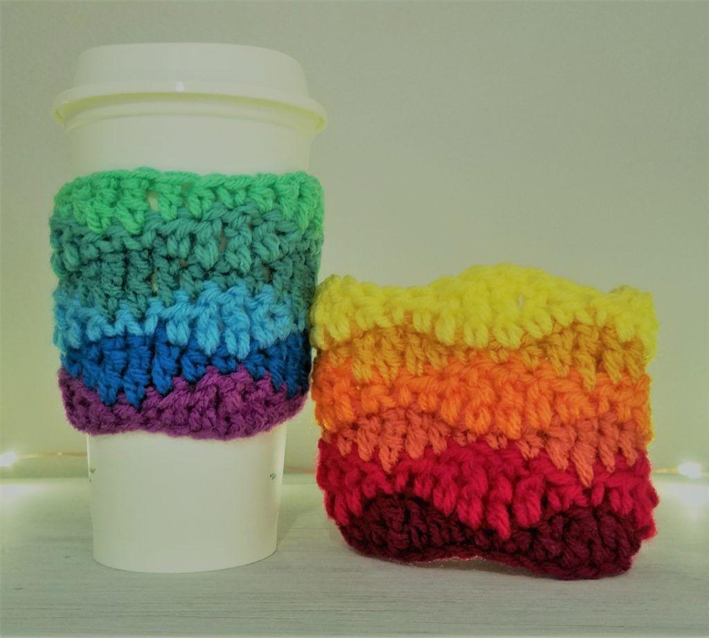 Color Wave Coffee Cozy: Free Crochet Pattern | Pinterest | Stricken