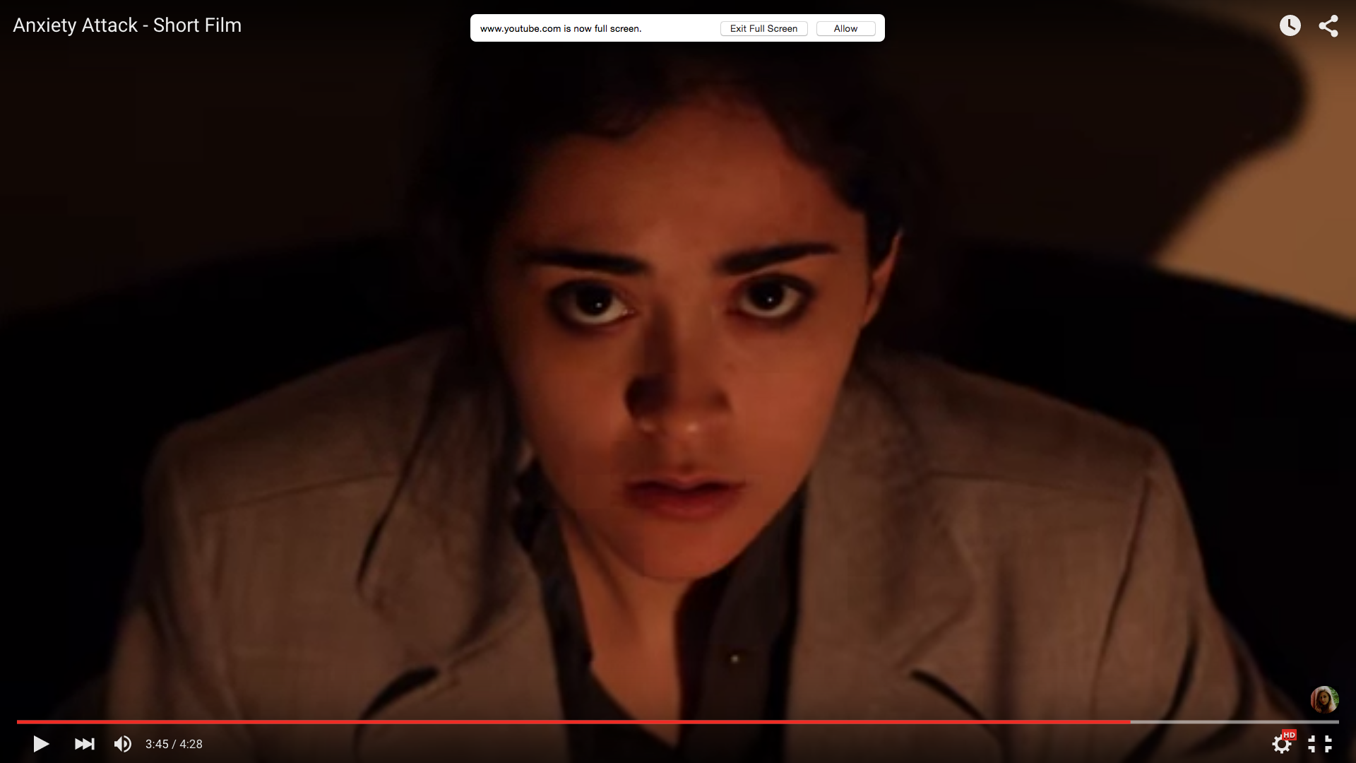 Anxiety Attack short film- High angle making her feel venerable. the whole world is looking down on her. looking into her soul.