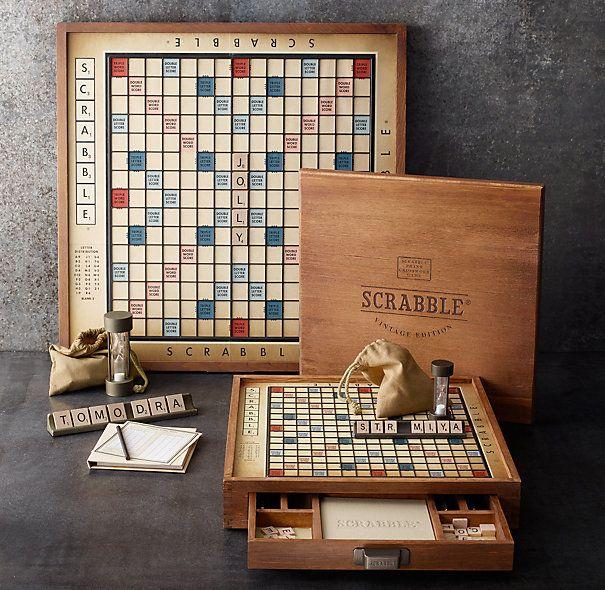 Premier Edition Scrabble® I WANT THIS. Vintage Scrabble Set.