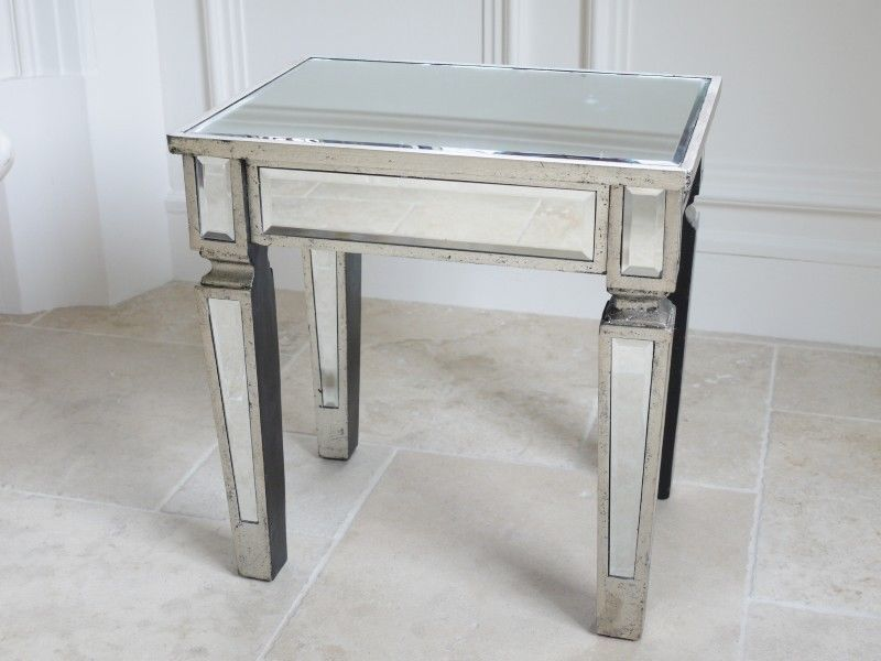 Best Stunning Venetian Glass Mirrored Bedside Table Or Dressing 400 x 300
