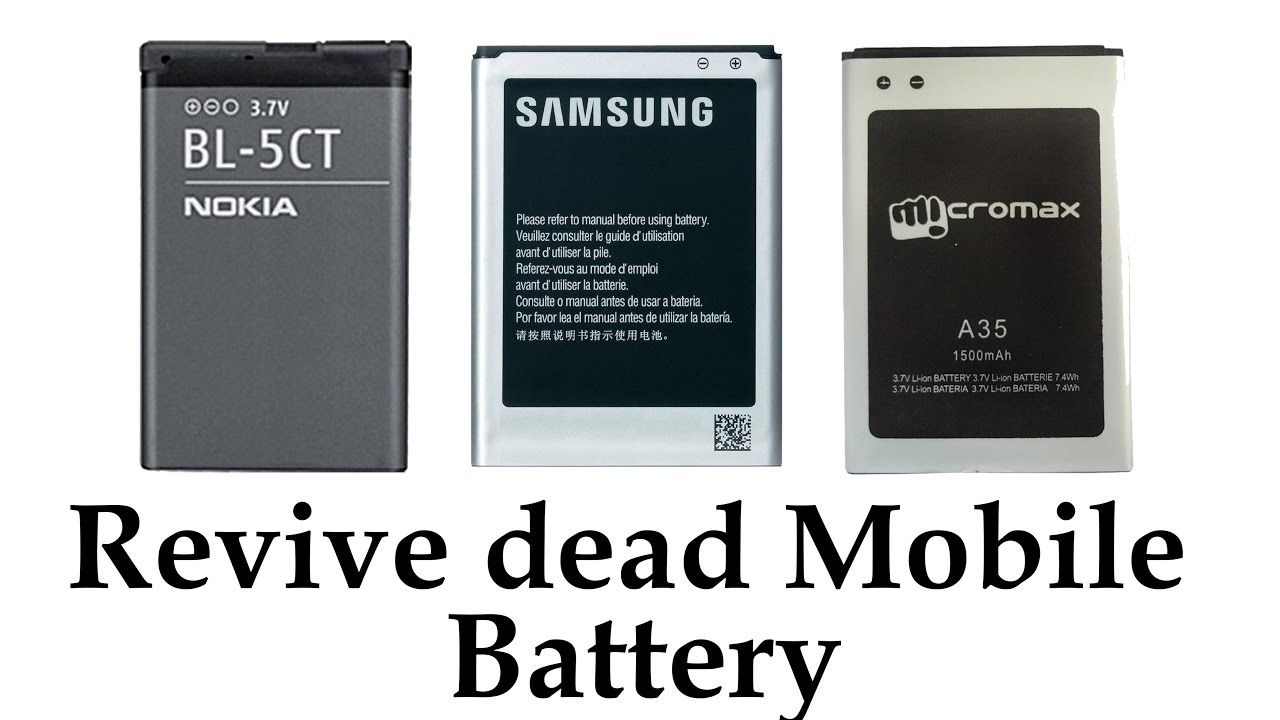 How To Revive A Dead Cellphone Battery Any Brand Youtube Cell Phone Battery Phone Battery Battery