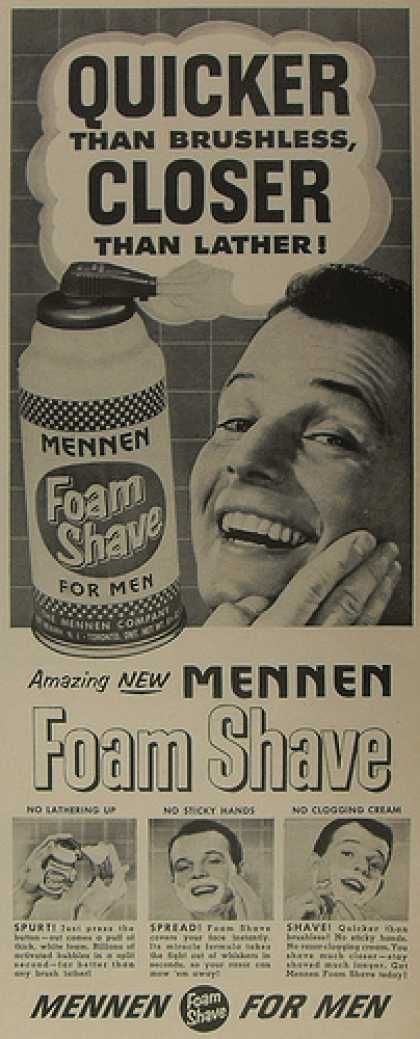 Vintage Shaving Ads of the 1950s (Page 2) | Vintage shaving, Vintage  advertisements, Old ads