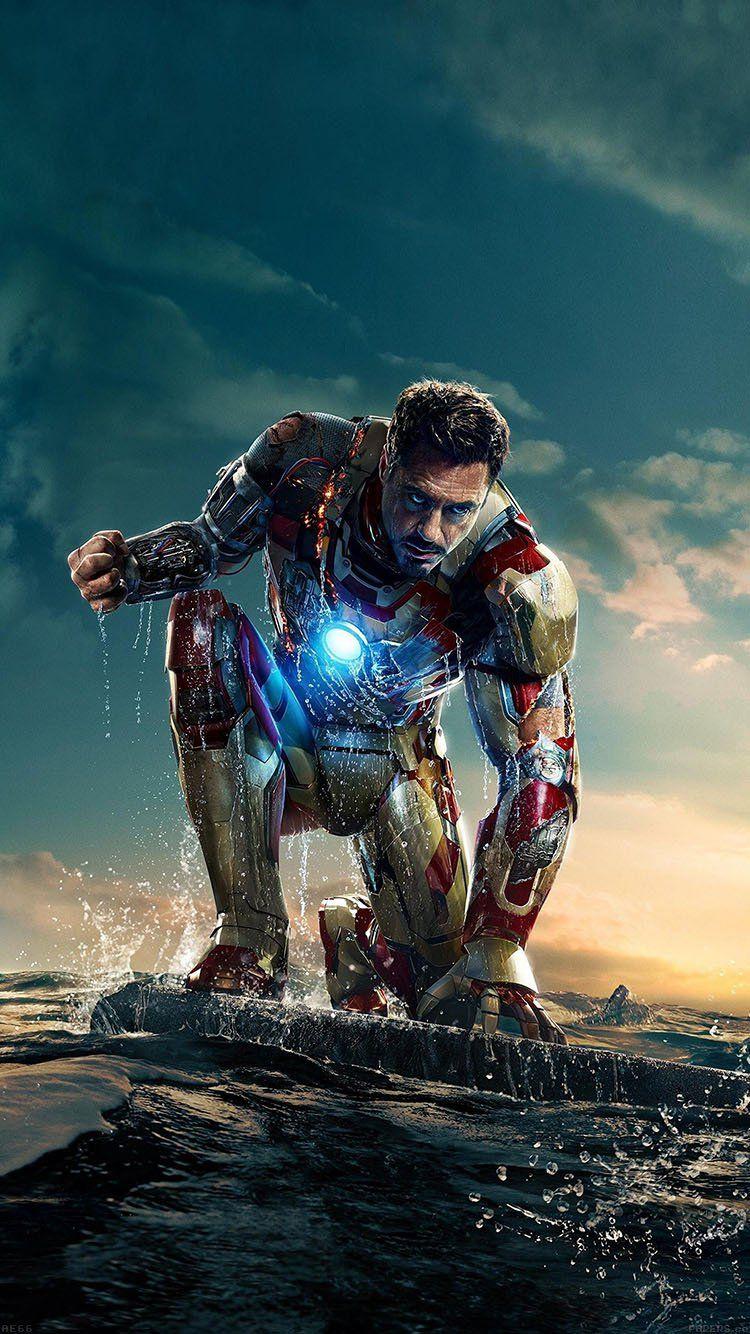 IRONMAN IN HERO POSETURE ART WALLPAPER HD IPHONE | กัปตัน ...