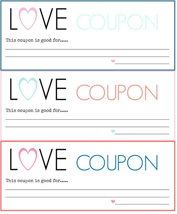 Diy Love Coupons Free Printable   Free Printable Nifty And Craft