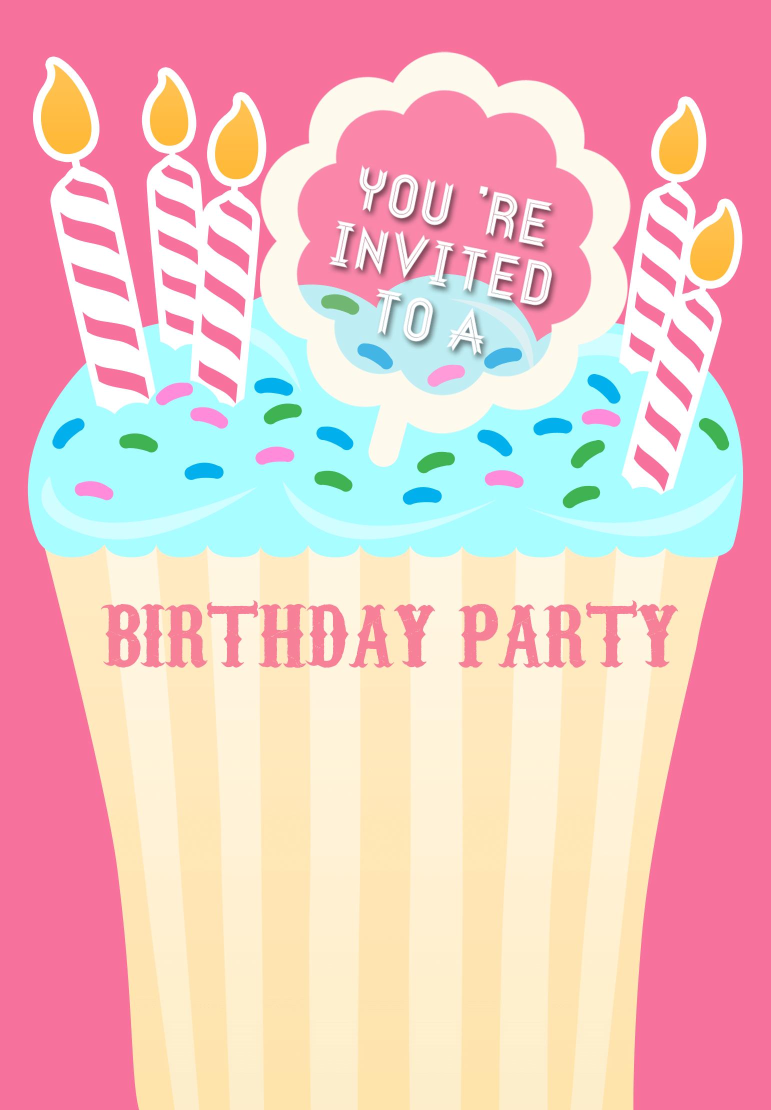 Very Special Day - Free Printable Birthday Invitation Template ...