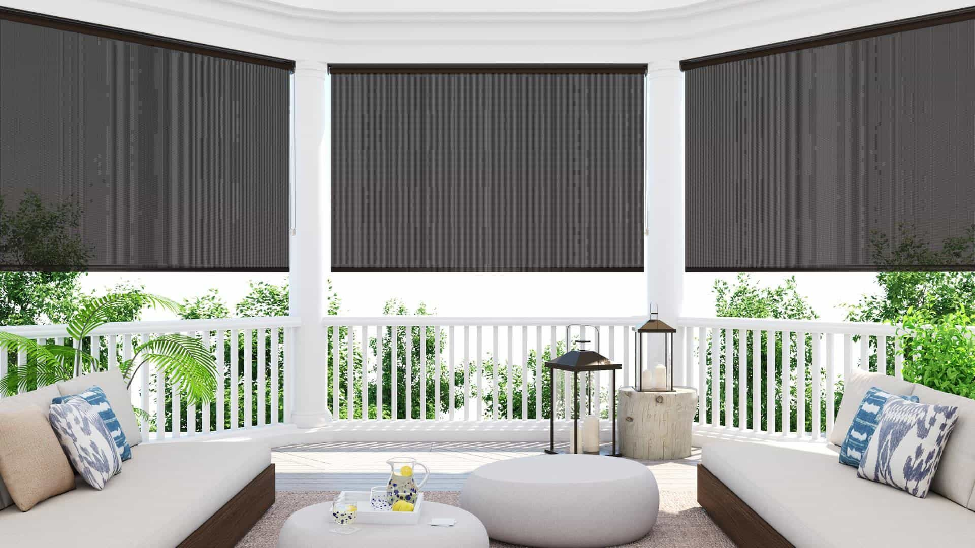 Blindsgalore Outdoor sun shade, Solar screens, Outdoor solar