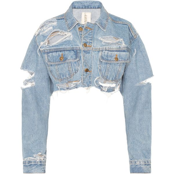 3a821bbf47 DASH Tyler Lambert Cropped Denim Jacket ( 198) ❤ liked on Polyvore  featuring outerwear