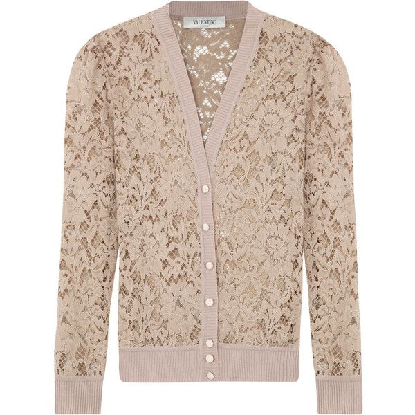 Valentino Lace Cardigan ($1,050) ❤ liked on Polyvore featuring ...
