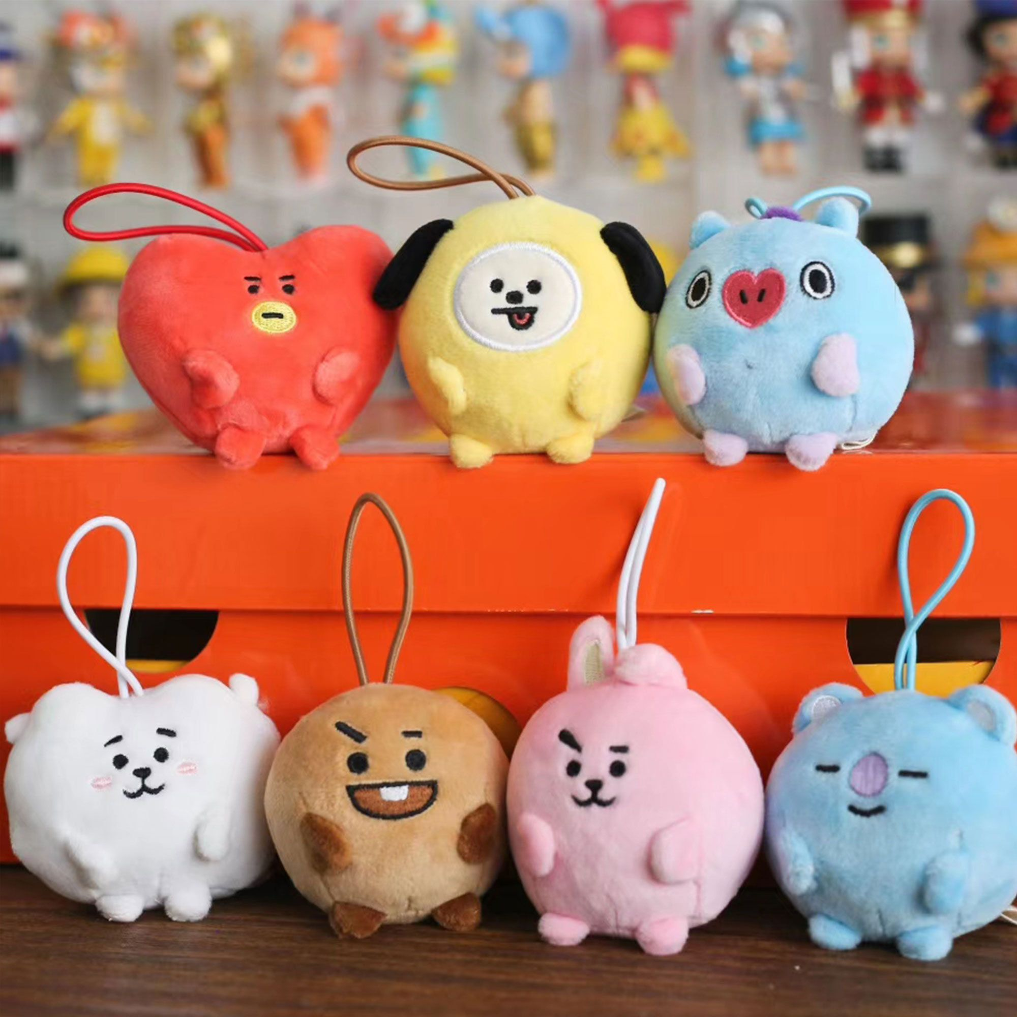 Bts Bt21 Mini Plush Bts Bt21 Mini Doll Charm Kpop Bts Bts Bt21 Keychain Bts Bt21 Gift Bts Bt21 Merch Unofficial By Ukistationery On Etsy In 2020 Doll Stands Dolls Mini