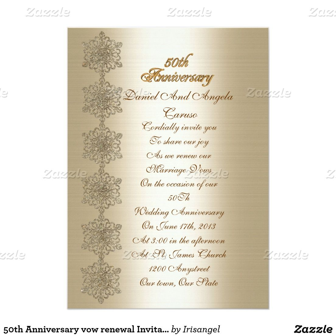 50th Anniversary vow renewal Invitation | Vows, Anniversaries and Cards