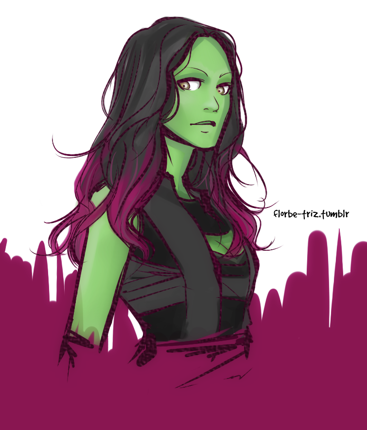 "florbe-triz: "" First try on Gamora… "" 