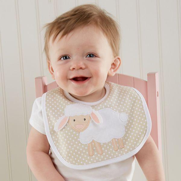 Gingham Farm Themed Baby Bib Baby Boy Gifts Newborn Baby Gifts