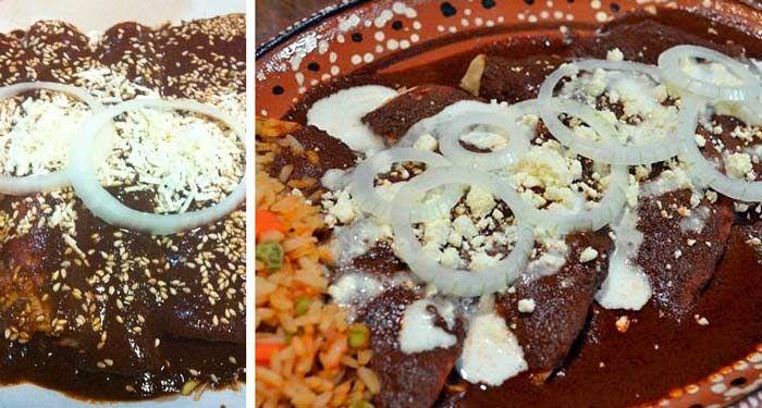 Receta: Enmoladas de Pollo | Food, Enchiladas, Food drink
