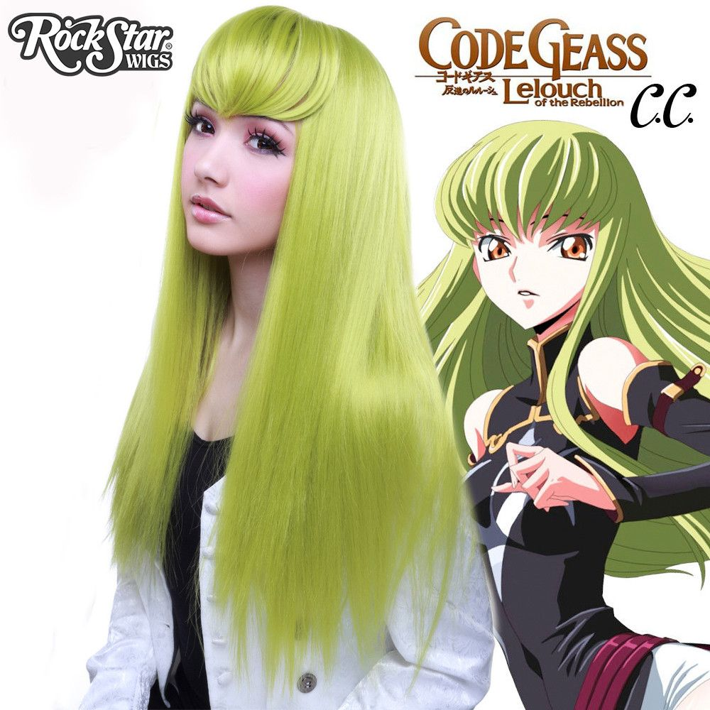 Langhaar Grün Code Geass Cosplay Perücke von C.C.