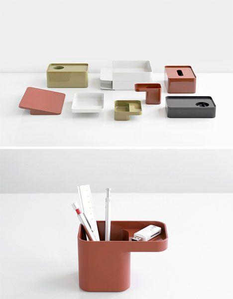 Formwork Modular Desk Organization With Images Modular Desk Modern Desk Accessories Desk Organization