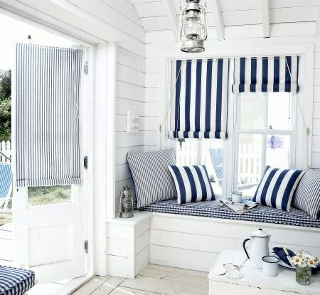 Interior design coastal beach style guest room cabin for Beach hut style