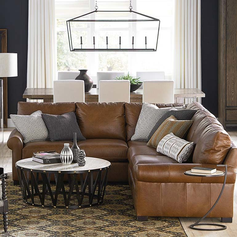 With Customer Leather The Scarborough Large Lshaped Sectional Custom Living Room With Sectional Decorating Inspiration