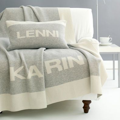 Personalized cushions and blankets
