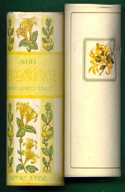 Avon Honeysuckle talc. I loved the smell of this. We all seemed to use talcum powder regularly when I was young, but it's a product that seems to have gone out of favour somewhat with the passing of the years. At least it hasn't completely disappeared, like bath cubes!