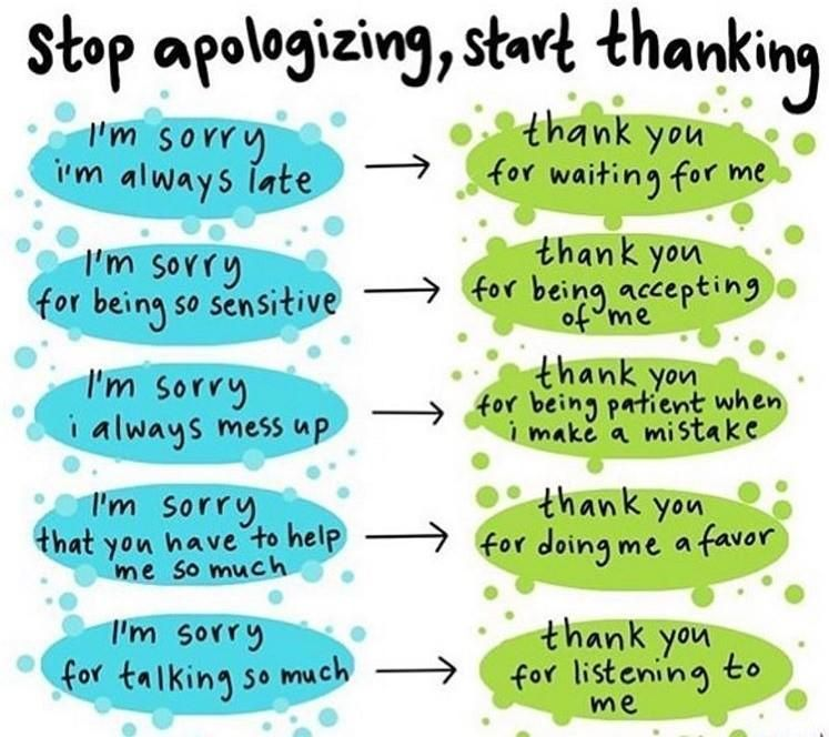 Stop Apologizing Start Thanking Start Using Words And Phrases