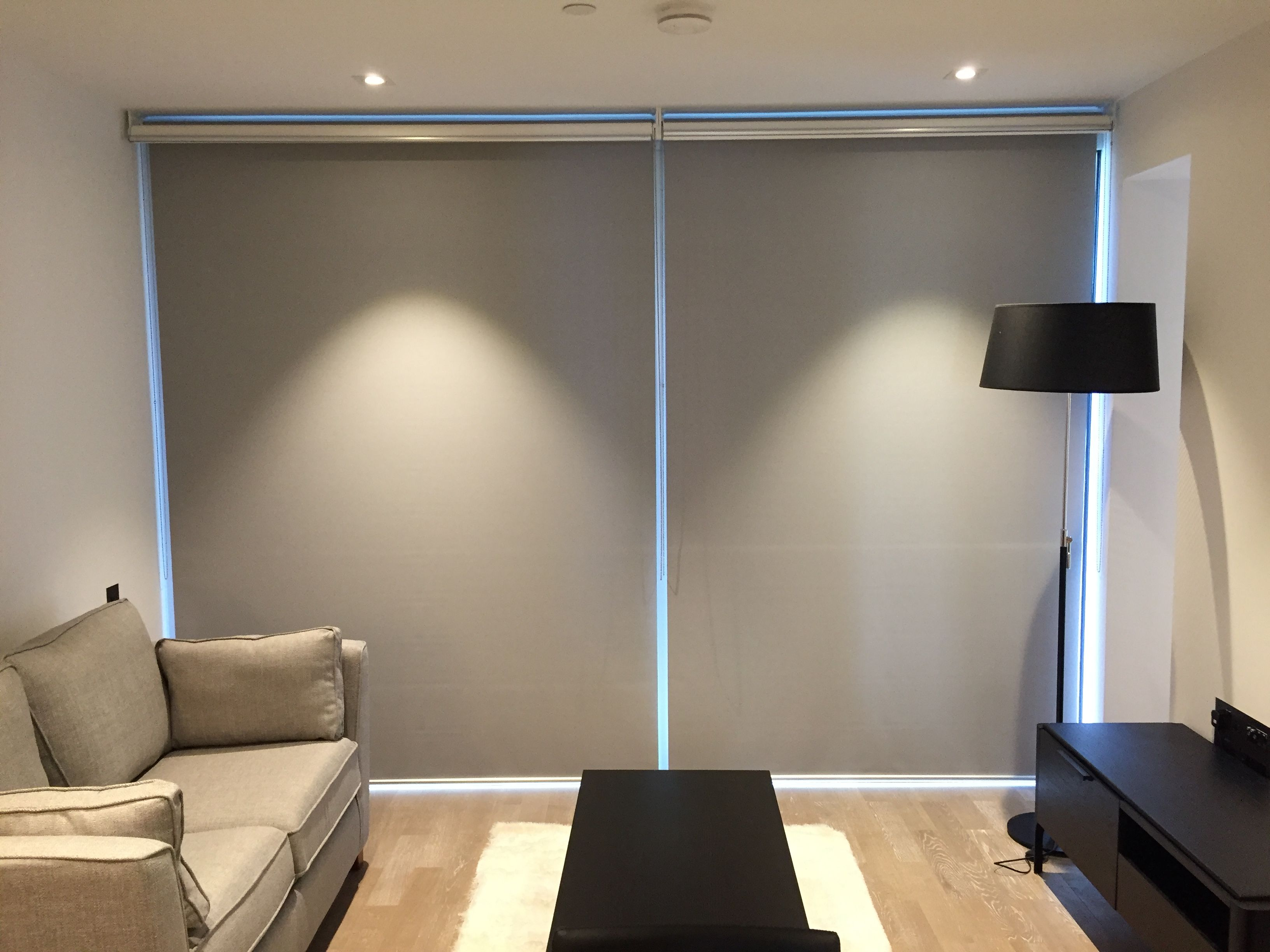 Double Dual Roller Blinds Showing The Blackout Roller