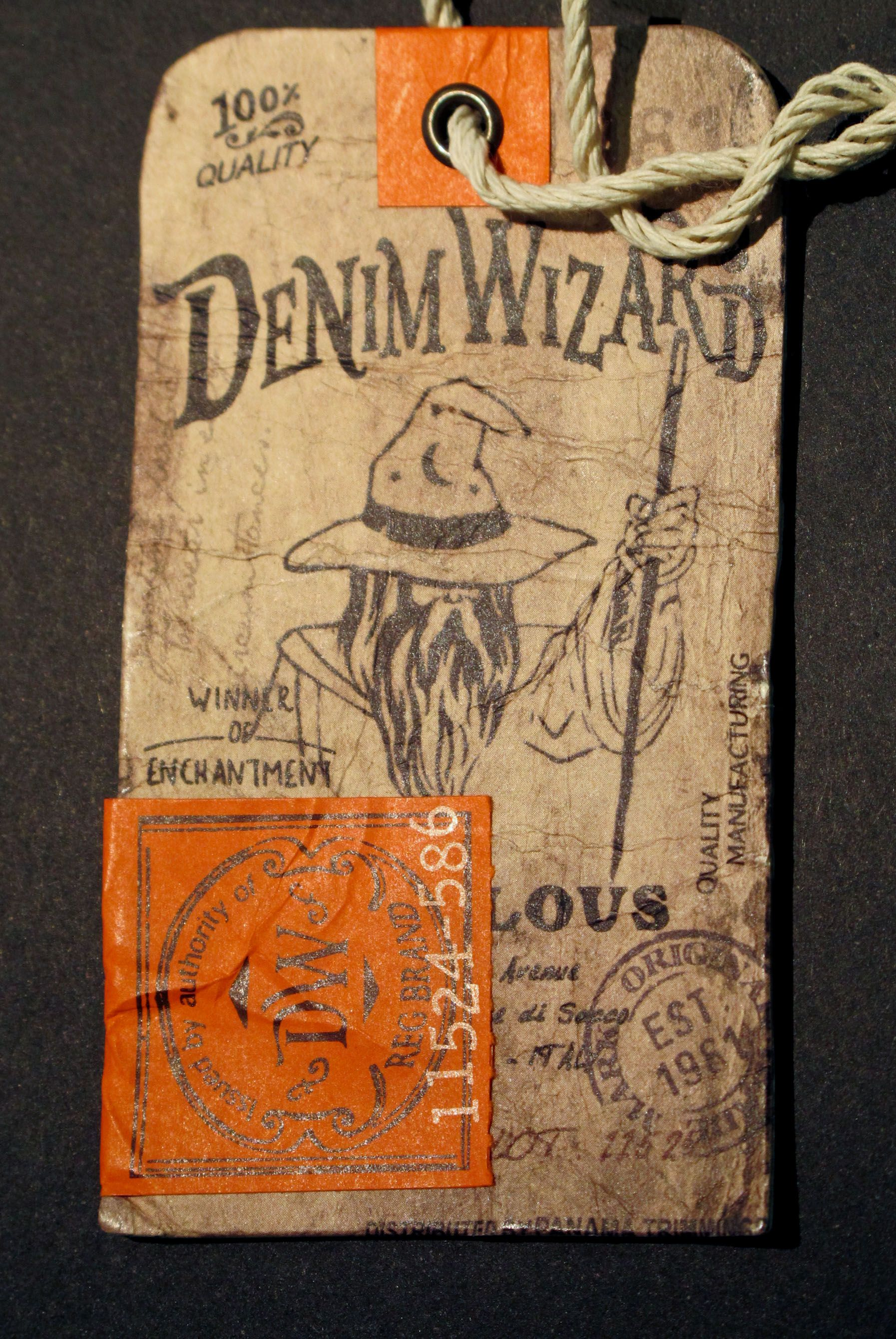 Denim Wizard Hangtag Hang Tags Tag Design Swing Tags