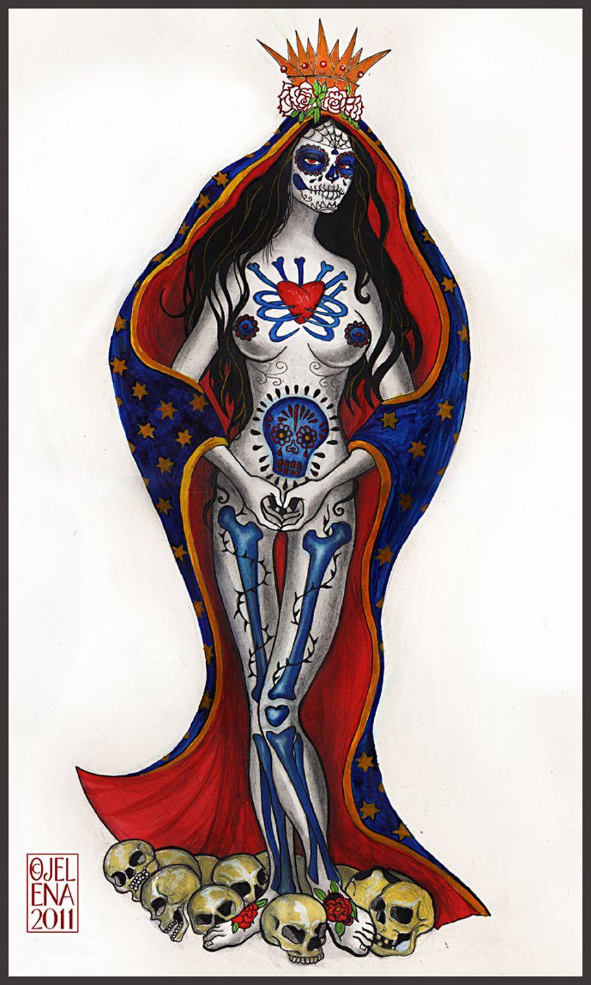 santa muerte pin up tattoo - Pesquisa Google  sc 1 st  Pinterest & santa muerte pin up tattoo - Pesquisa Google | Tatuajes | Pinterest ...