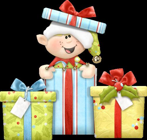 Elf with presents | duendes | Pinterest | Weihnachten