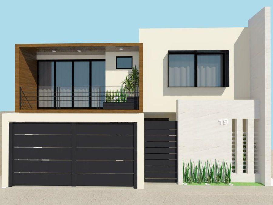 Fachadas de casas peque as buscar con google herreria for Casa minimalista concepto