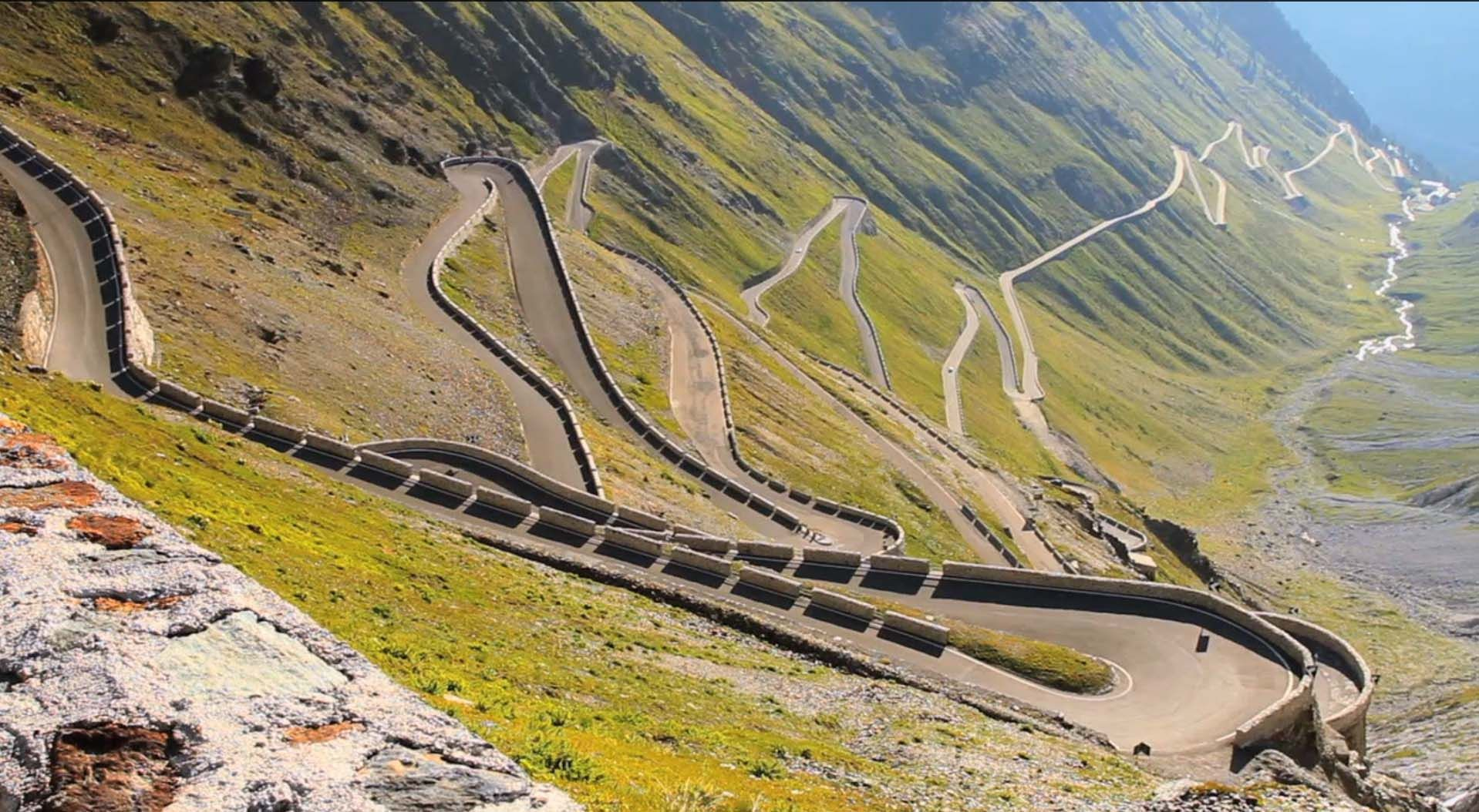 Stelvio Pass one of the greatest drivers road in Europe
