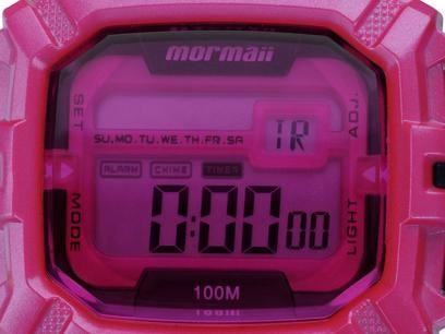 Relógio Feminino Mormaii M0938 8Q - Digital Resistente à Água Cronógrafo  Calendário com as melhores 5379799044