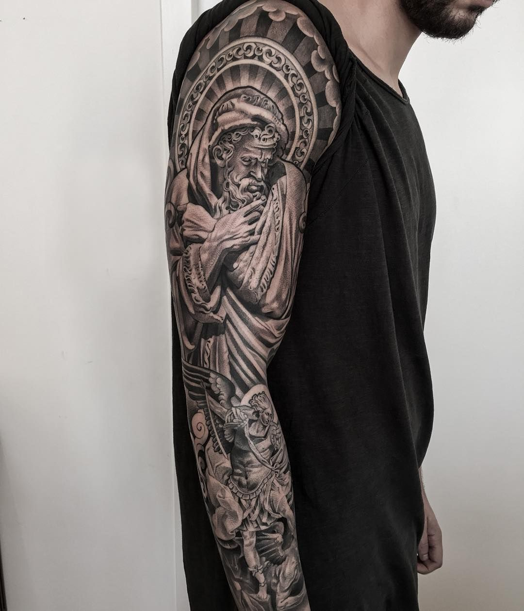 The 95 Best Guardian Angel Tattoos For Men Guardian Angel Tattoo Angel Tattoo Men Guardian Angel Tattoo Designs