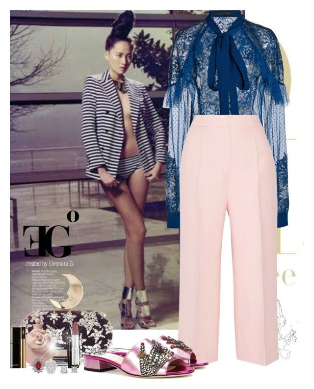 Nebula by eleonoragocevska on Polyvore featuring polyvore fashion style Elie Saab Fendi Gucci Blue Nile Givenchy Chanel Yves Saint Laurent Valentino clothing