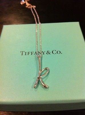 K necklace from tiffanys closet dreams pinterest tiffany s tiffany co elsa peretti letter initial k sterling silver necklace audiocablefo