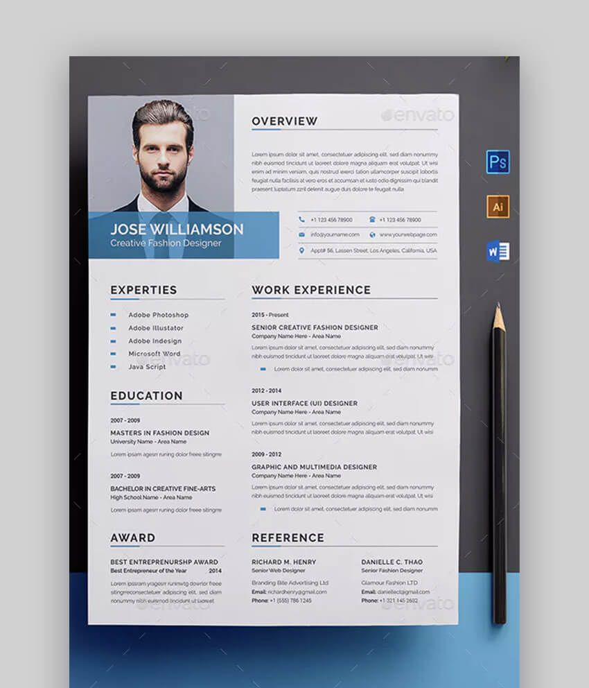 20 Awesome Resume Templates (With Beautiful Layout Designs