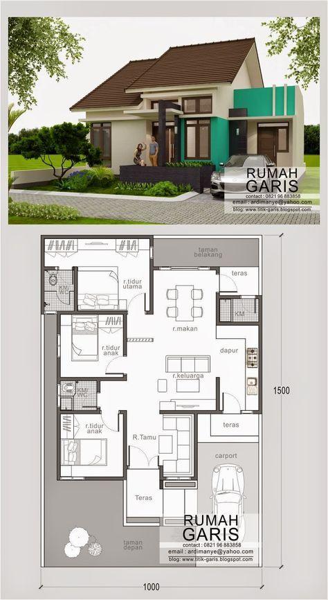 Desain Model Denah Tampak Rumah Tipe 90 Di Makassar