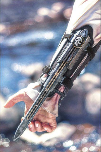 Assassins Creed 4: Bandera Negro Edward Kenway Cosplay Arma Props Espada Manga 21 cm 1:1 el envío libre