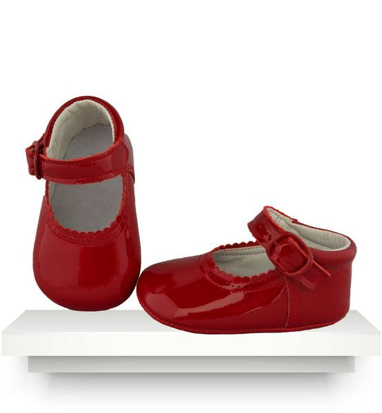 Spanish baby clothes | baby shoes | Red patent leather shoes |babymaC  - 1